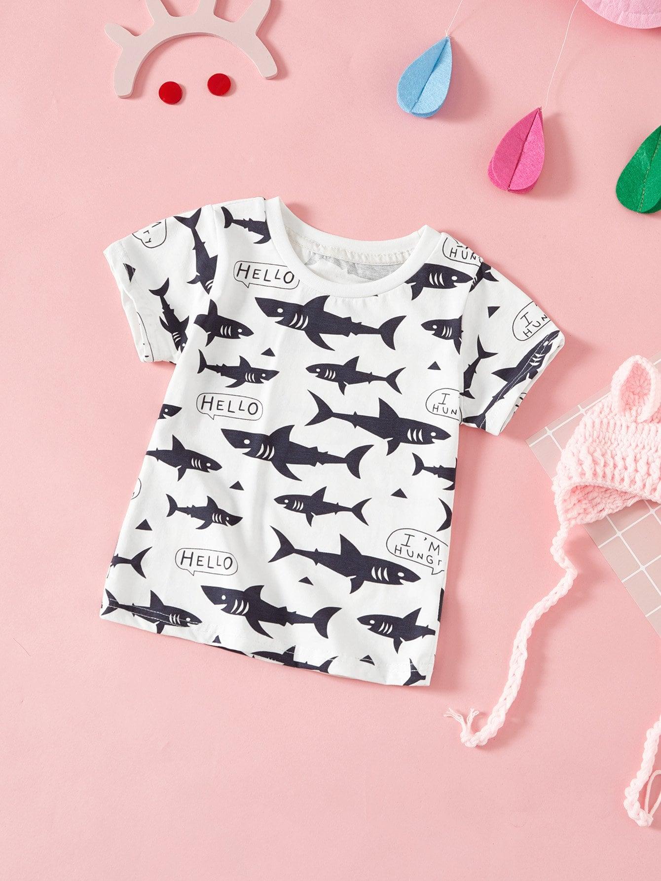 Kids Whale Print T-shirt