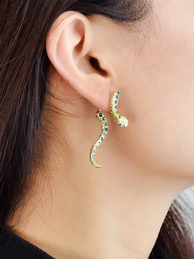 Snake-Shaped Earrings