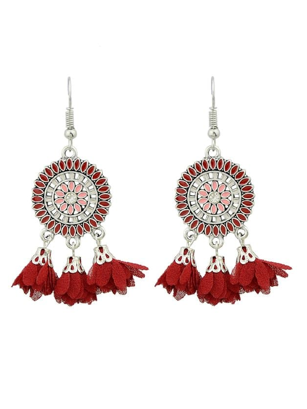 Red Dripping Tassel Earrings mayer boch 143 092 дворники пластик 2шт 18