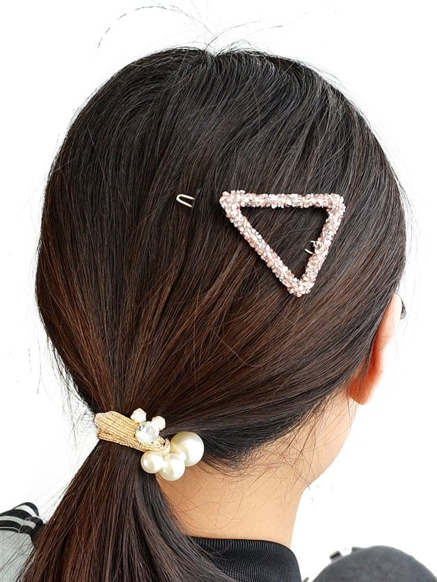 Pink Crystal Rhinestone Hair Clip все цены