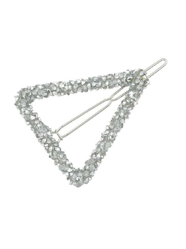White Crystal Rhinestone Hair Clip все цены