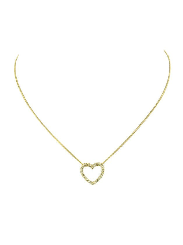 Gold Full Heart Diamond Necklace heart of gold