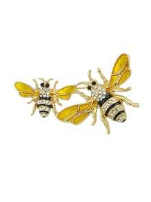 Two Bee Brooch