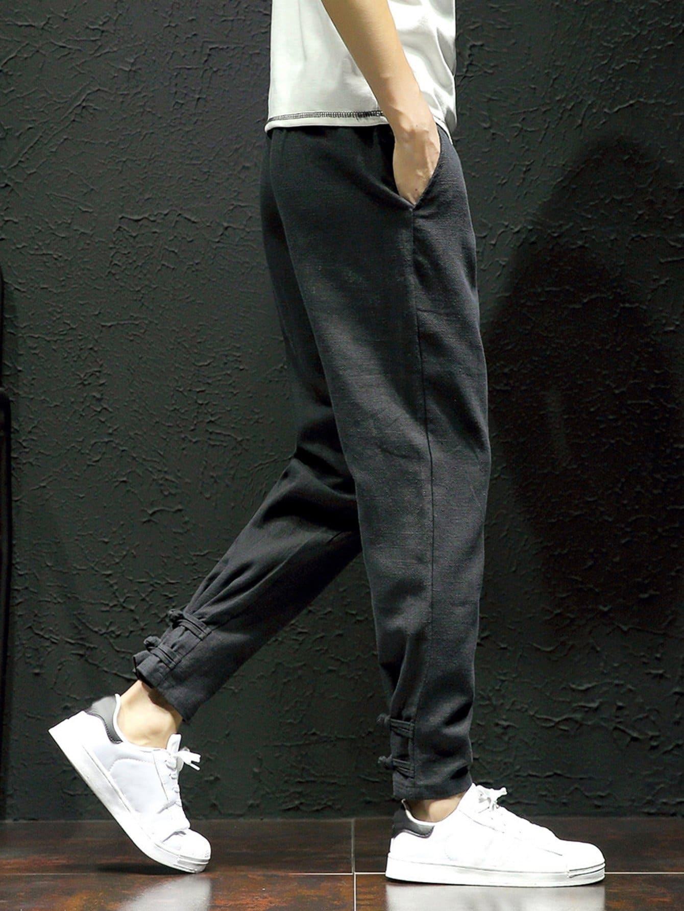 Men Close Skinny Foot Pants