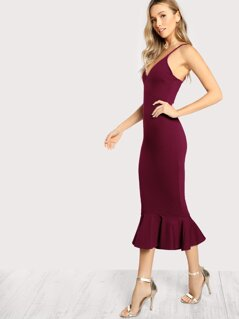High Low Fishtail Form Fitting Dress