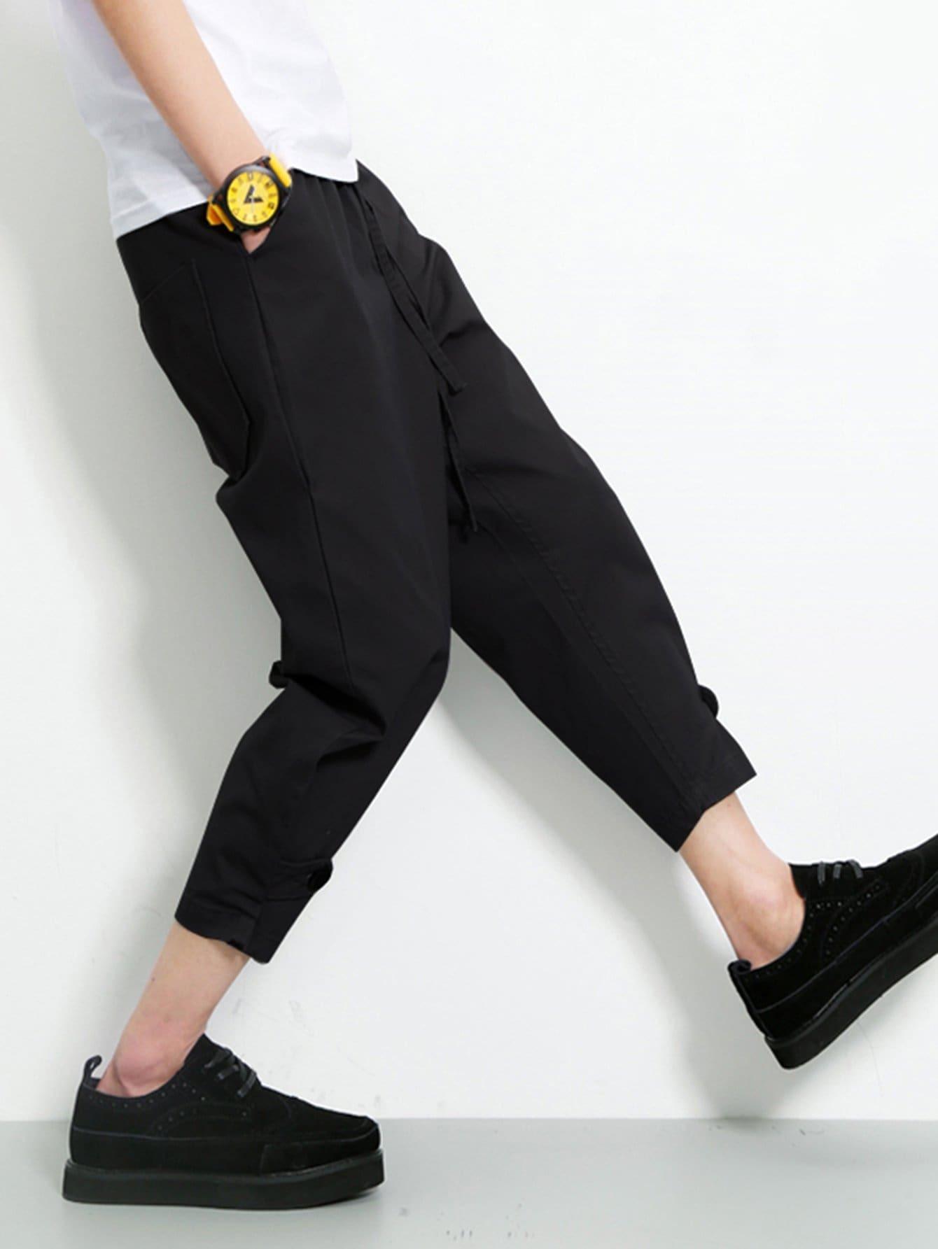 Мужчины Шнурок Закрыть Тощий Ноги Брюки