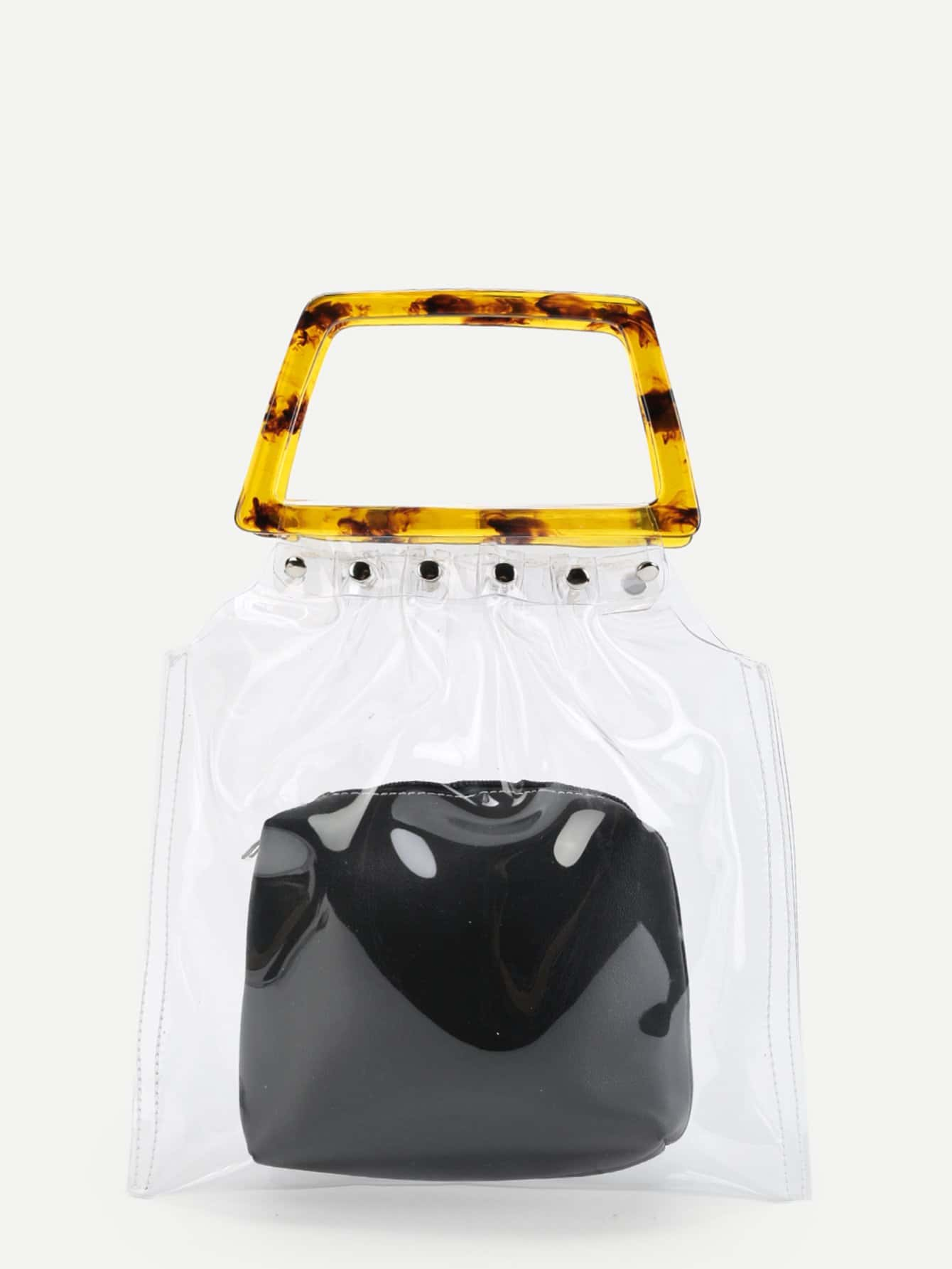 Фото Clear PVC Tote Bag With Inner Pouch