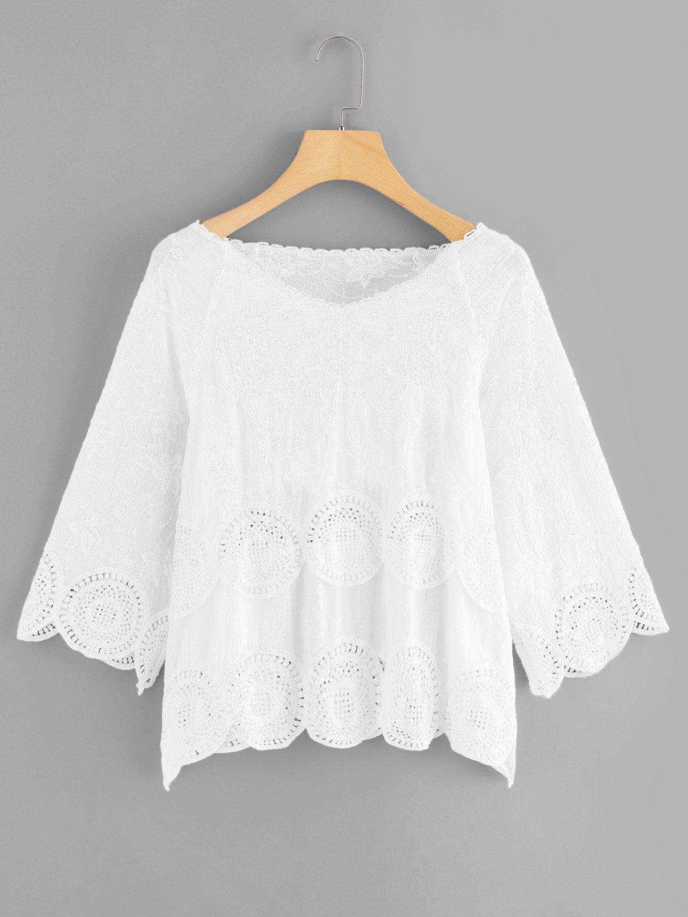 V Neckline Raglan Sleeve Blouse bow sleeve v neckline blouse
