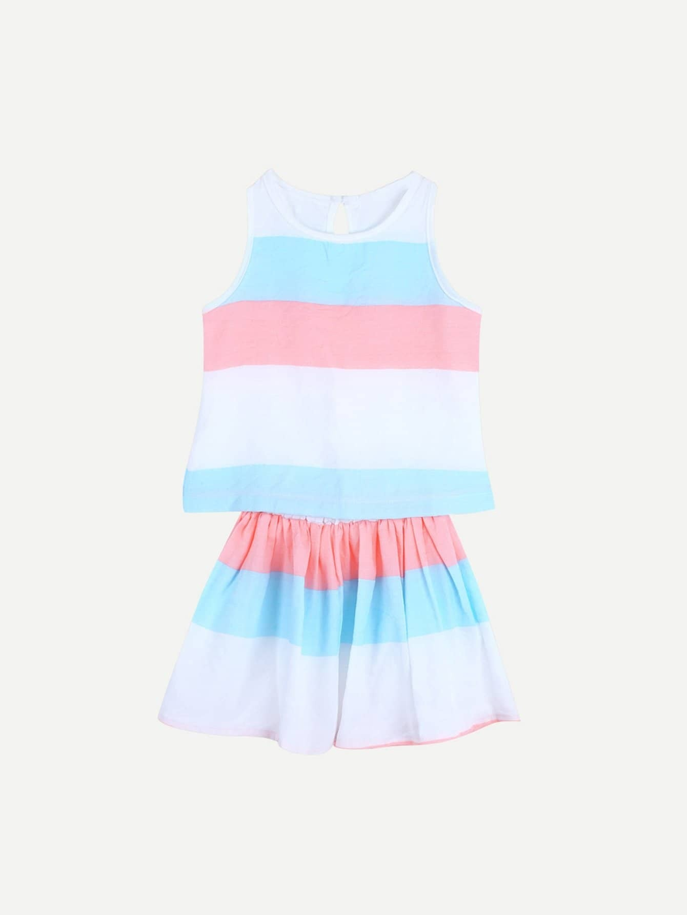 Girls Hollow Out Striped Top With Skirt executivity aero track 5l 505 детали