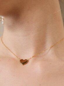 Mini Heart Pendant Chain Necklace