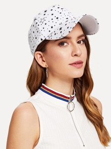 Star Print Baseball Cap