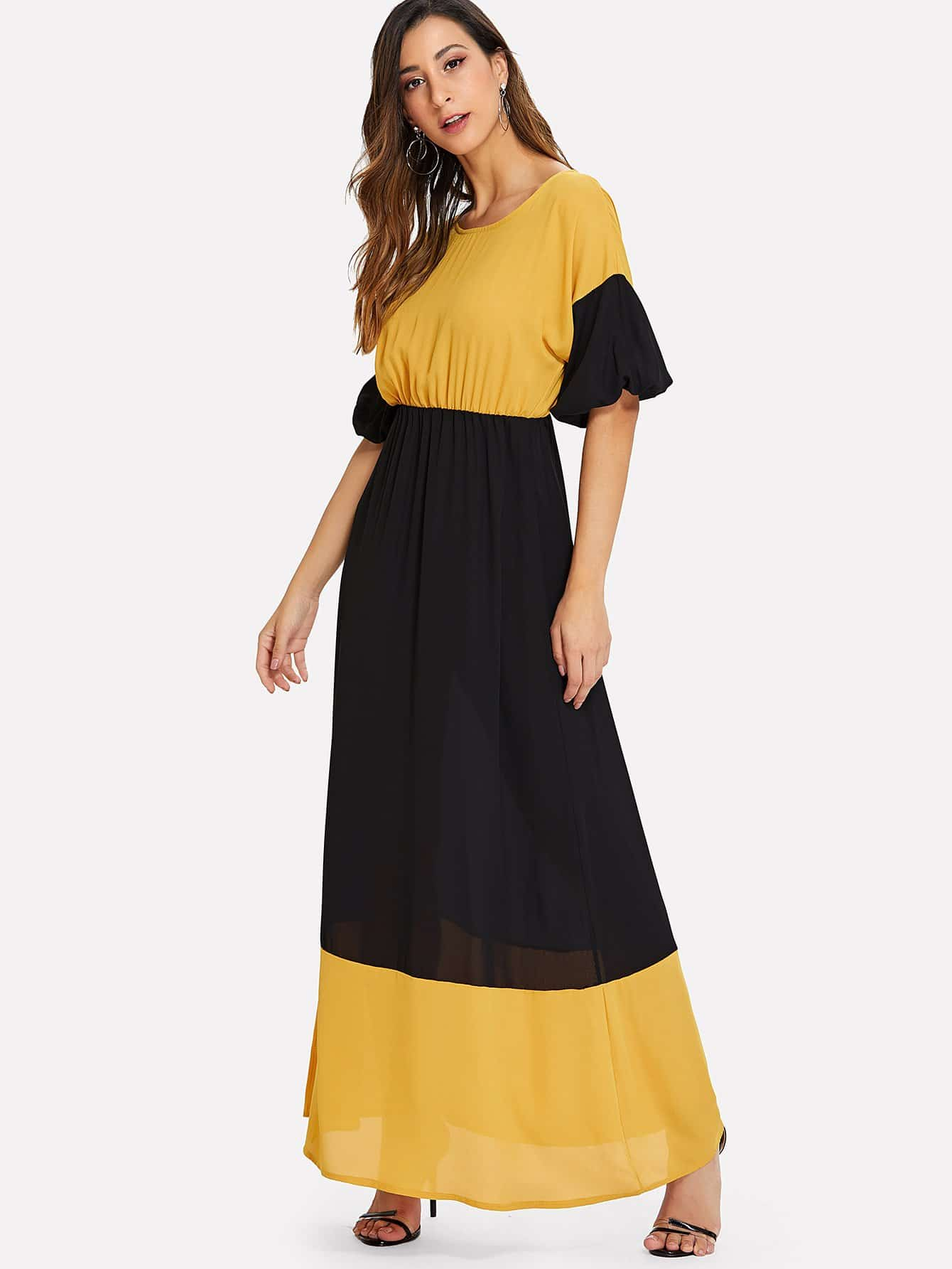 Contrast Panel Colorblock Dress др коффер m 40587 04 шапка