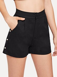 Pearl Beaded Side Shorts