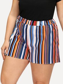 Multi Striped Shorts