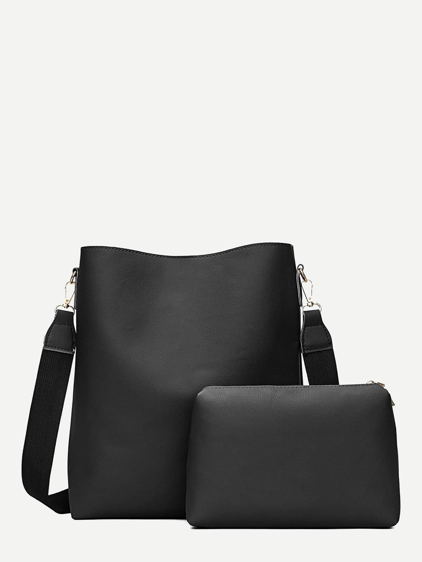 Bucket Bag With Clutch