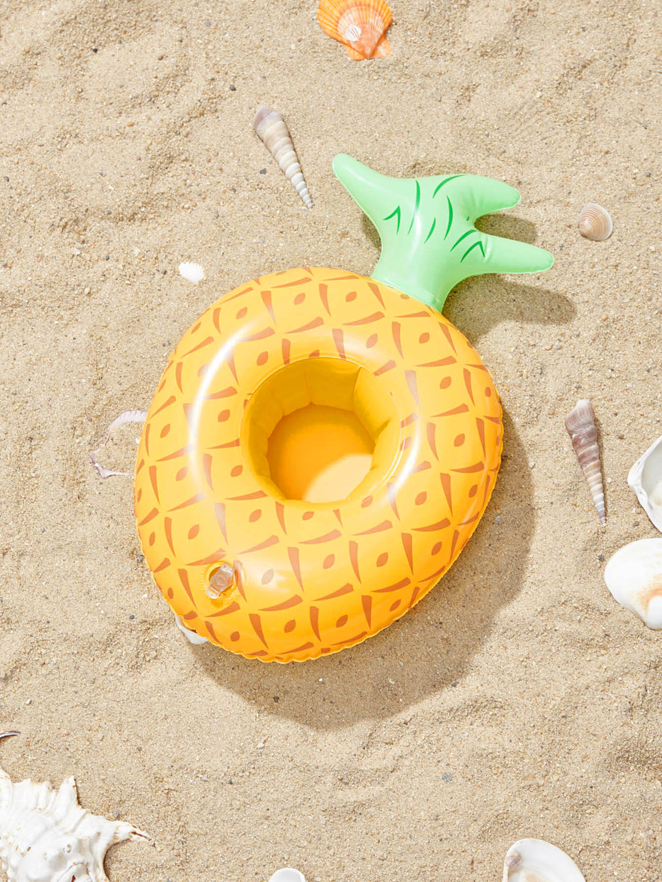 Pineapple Shaped Inflatable Drink Holder pineapple shaped keychain