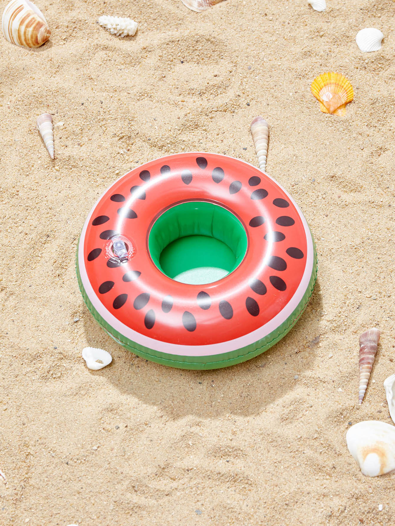 Watermelon Shaped Inflatable Drink Holder xiaribaobei watermelon inflatable swimming ring pool float