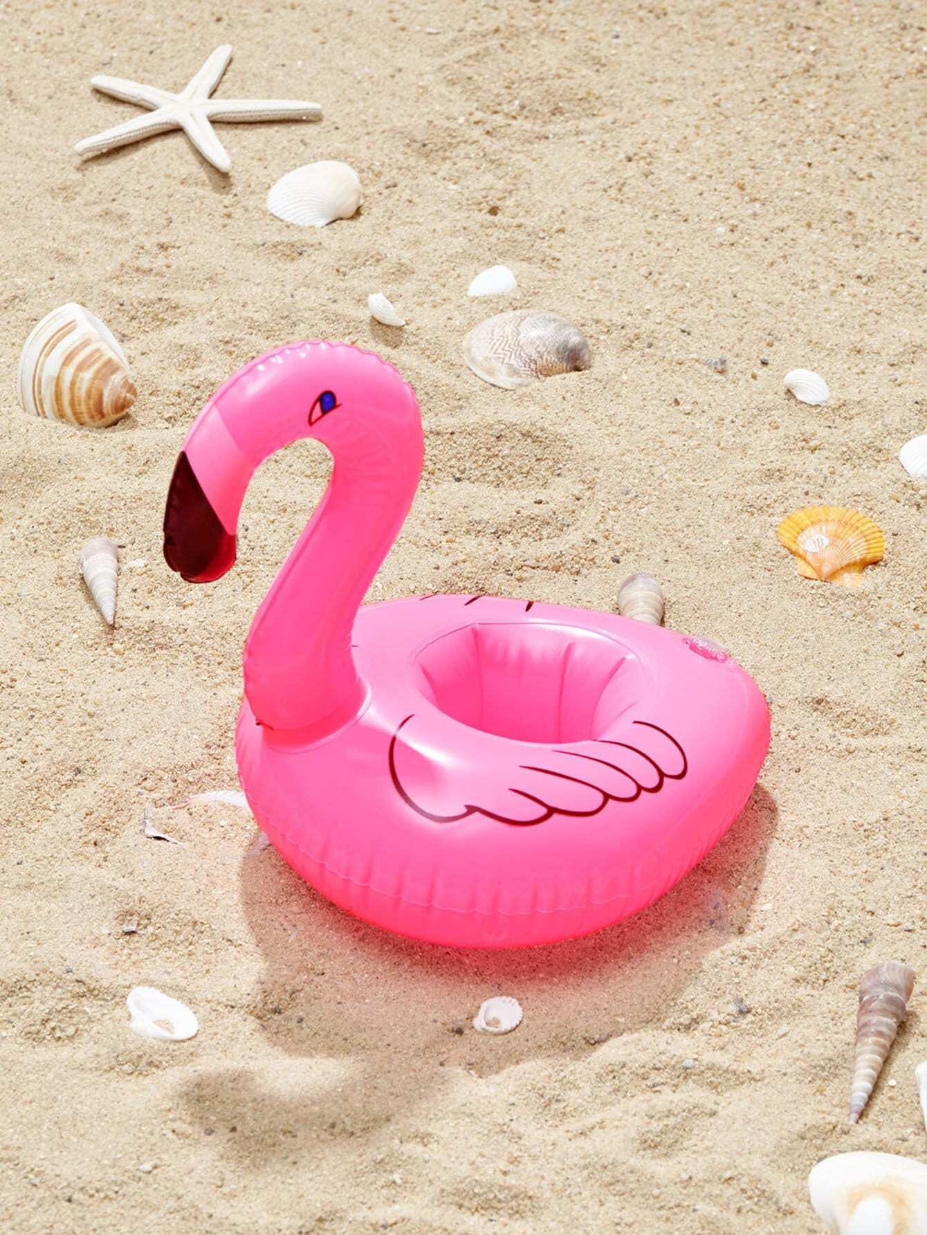 Flamingo Shaped Inflatable Drink Holder