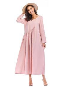 Asymmetrical Waist Longline Dress