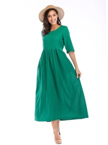 Self Tie Back Longline Dress