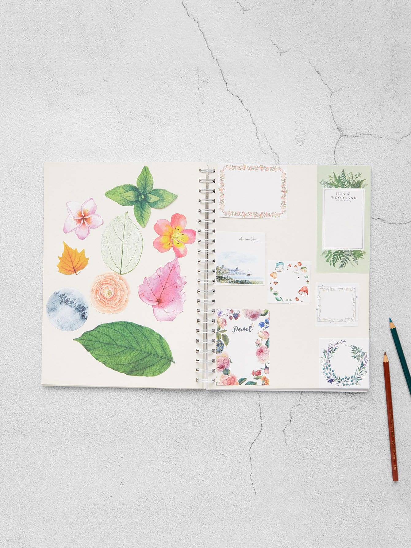 Flower Memo Pads 32 Sheets 200 sheets 2 boxes 2 sets vintage kraft paper cards notes filofax memo pads office supplies school office stationery papelaria