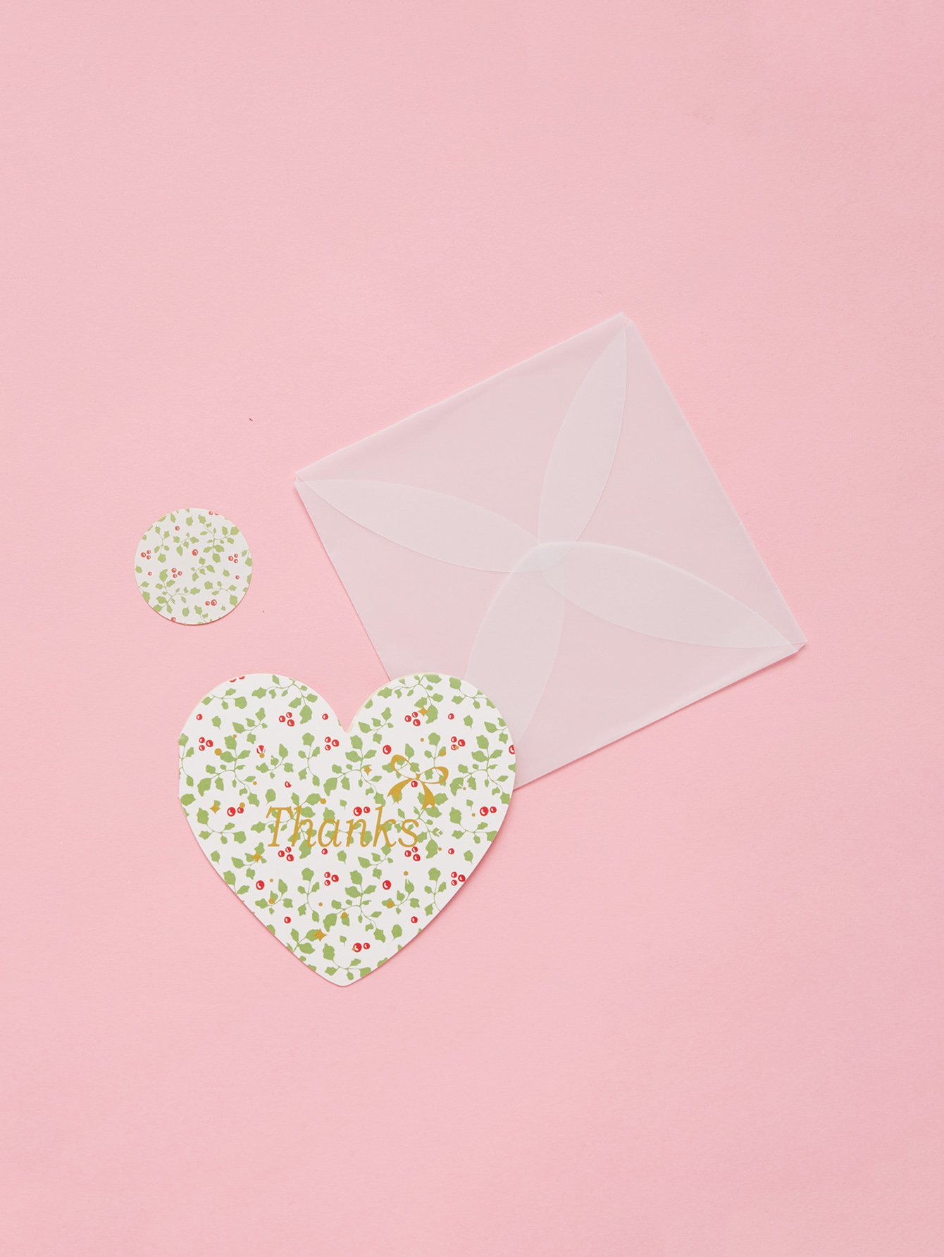 Heart Message Card With Envelope