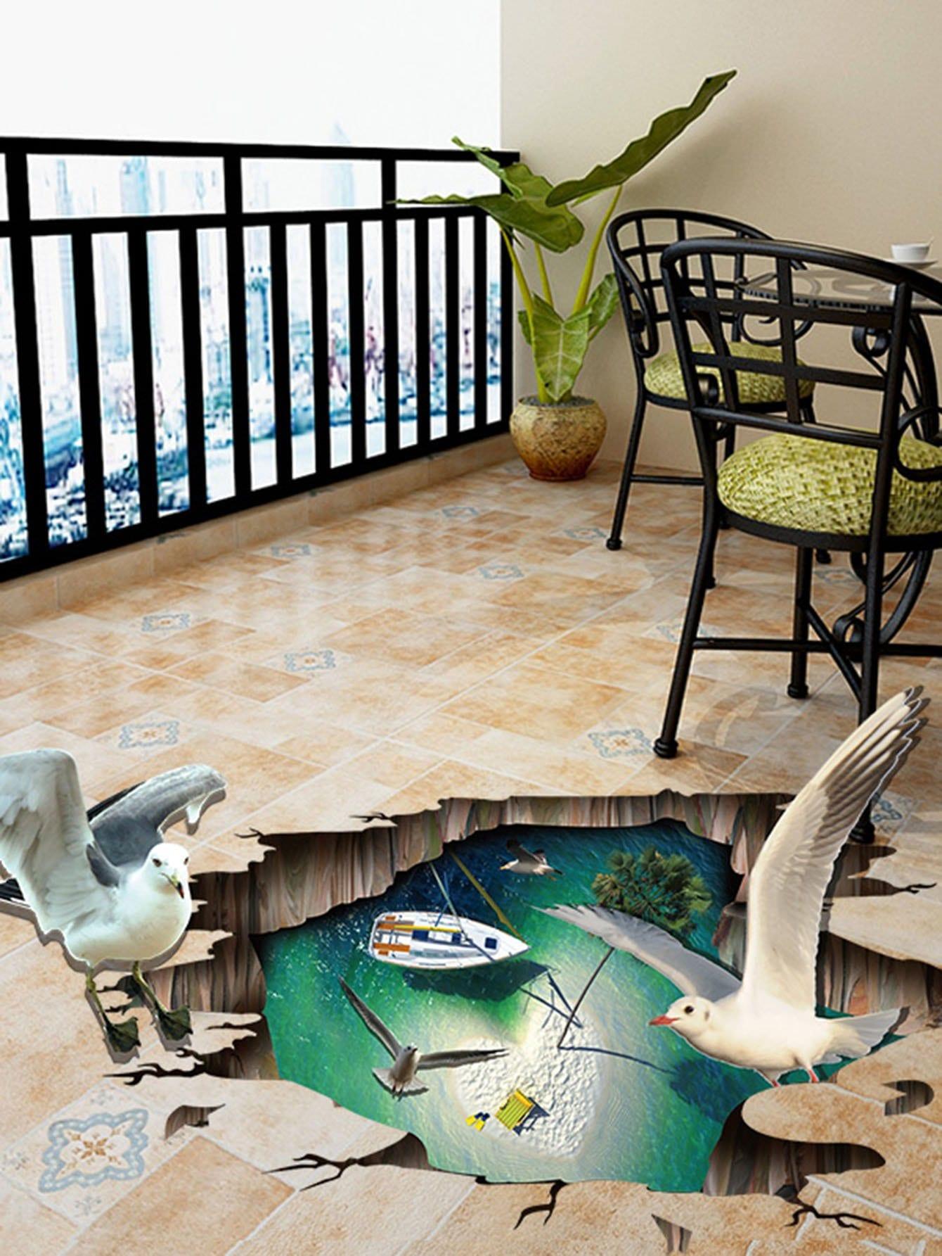 3D Floor Sticker beibehang custom large floor sticker