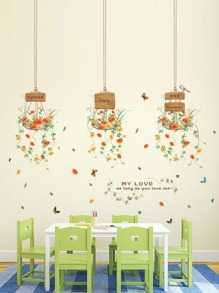 Hanging Flower Wall Decal
