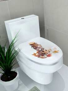 Shell Toilet Lid Sticker