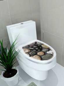Cobblestone Toilet Lid Sticker