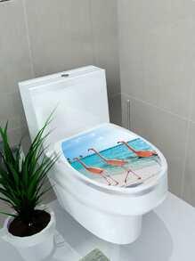 Flamingo Toilet Lid Sticker