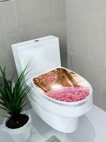 Cherry Blossoms Toilet Lid Sticker