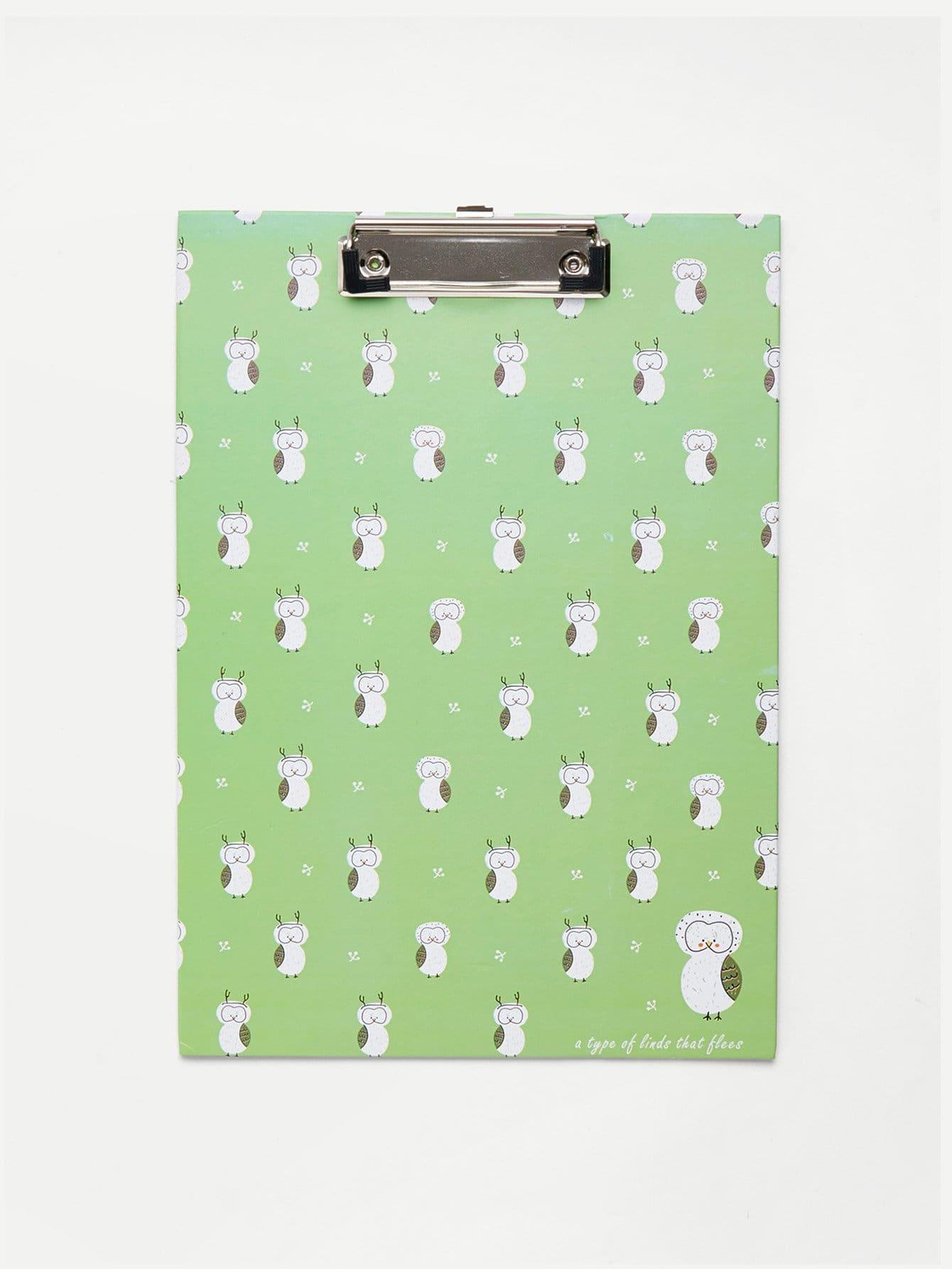 Owl Print Clip Board