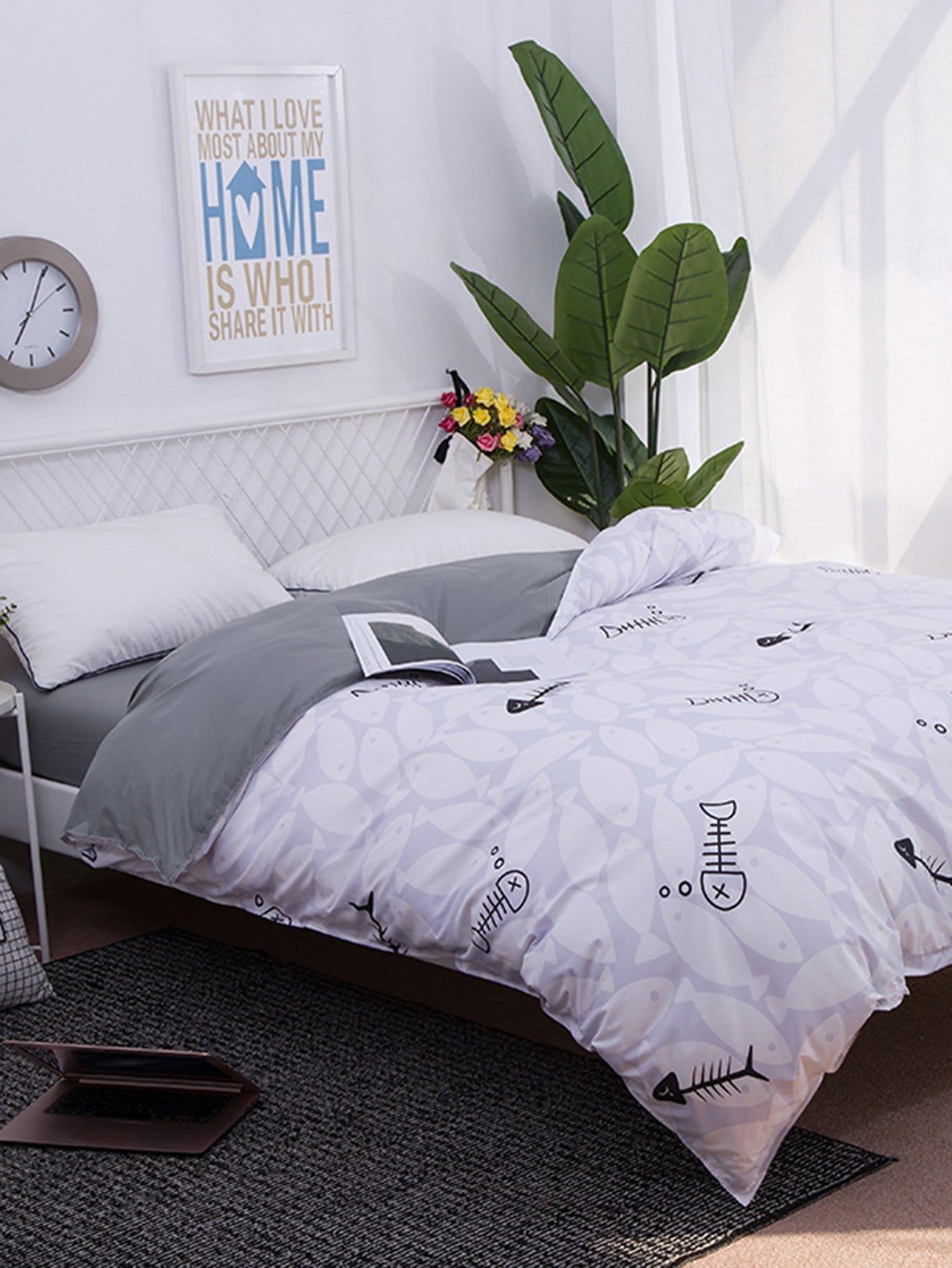 Купить Комплект для кровати с принтом растения, null, SheIn