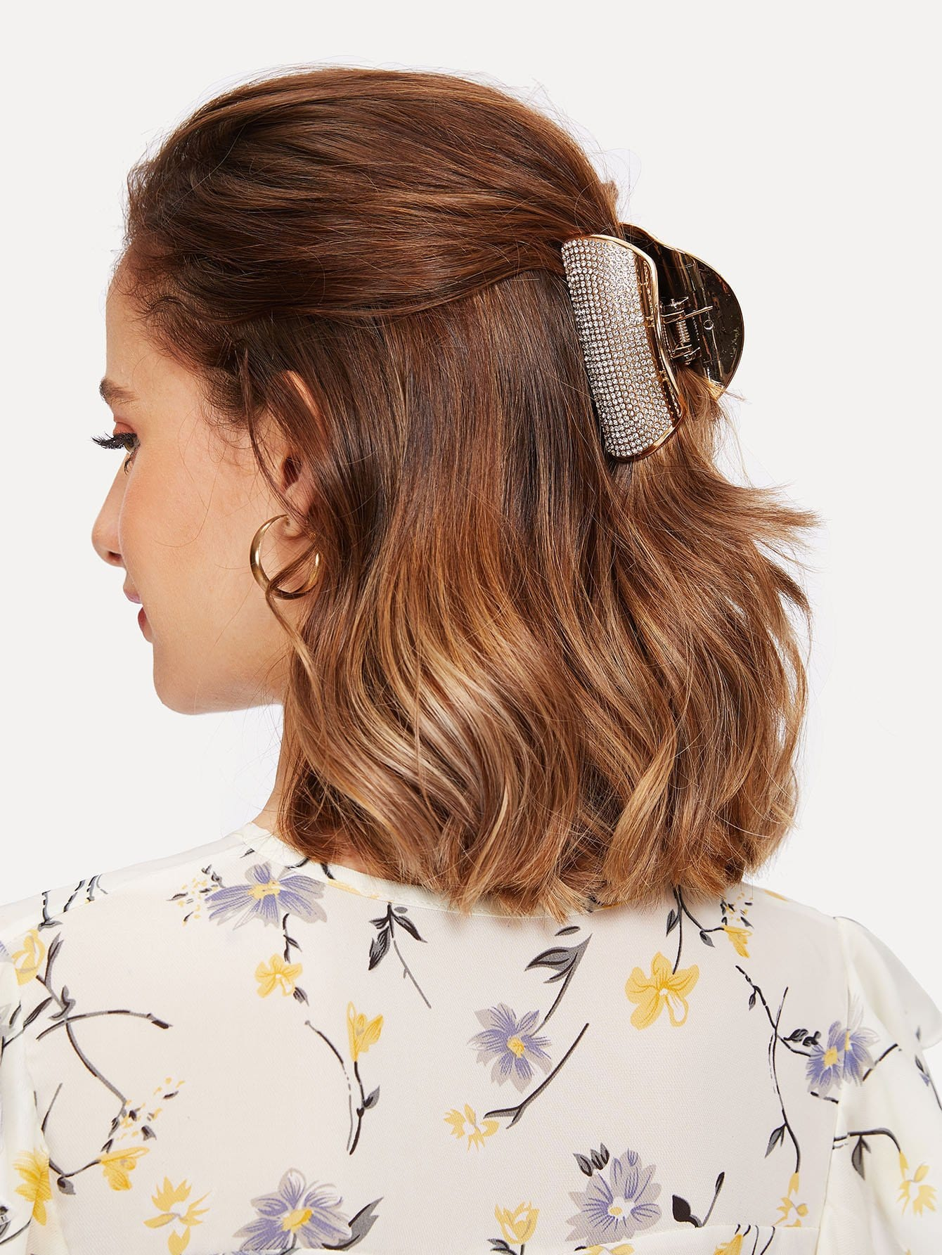 Rhinestone Decorated Hair Clip rhinestone decorated kids hair clip 4pcs