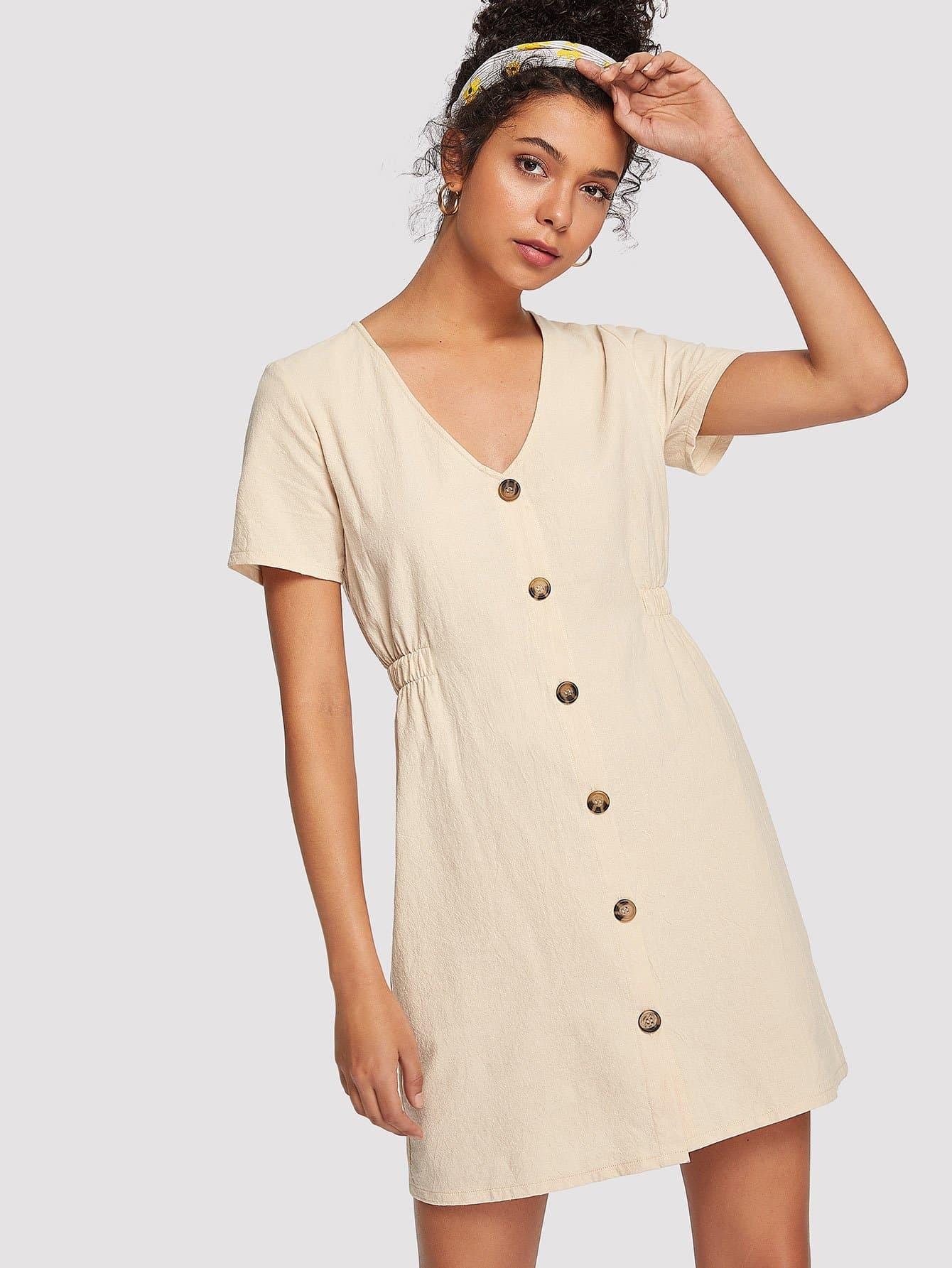 Single Breasted Front Dress все цены
