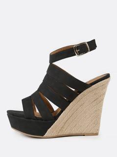 Espadrille Platform Strappy Wedge Sandal