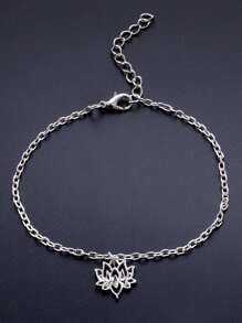 Hollow Flower Decorated Chain Anklet