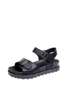 Buckle Detail Platform Sandals