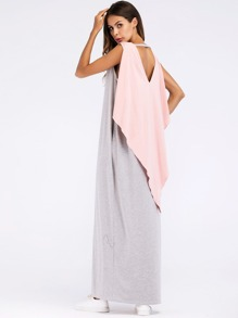 Longline Cape Dress