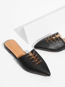 Pointed Toe Flat Mules