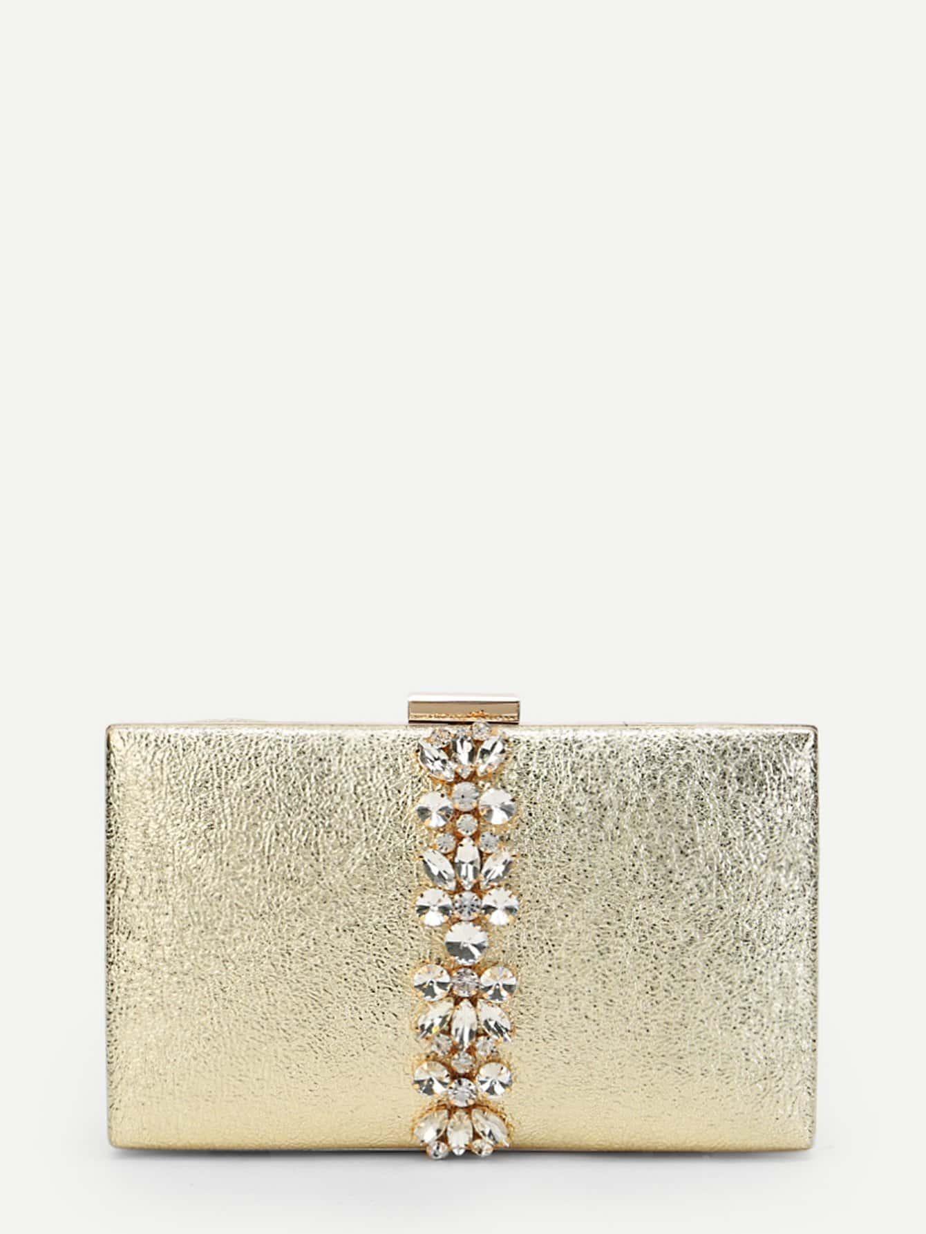 Фото - Rhinestone Flower Metallic Clutch Bag fawziya bird clutch bags for womens evening bag hard case rhinestone