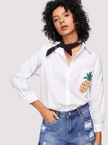 Pineapple Print Blouse