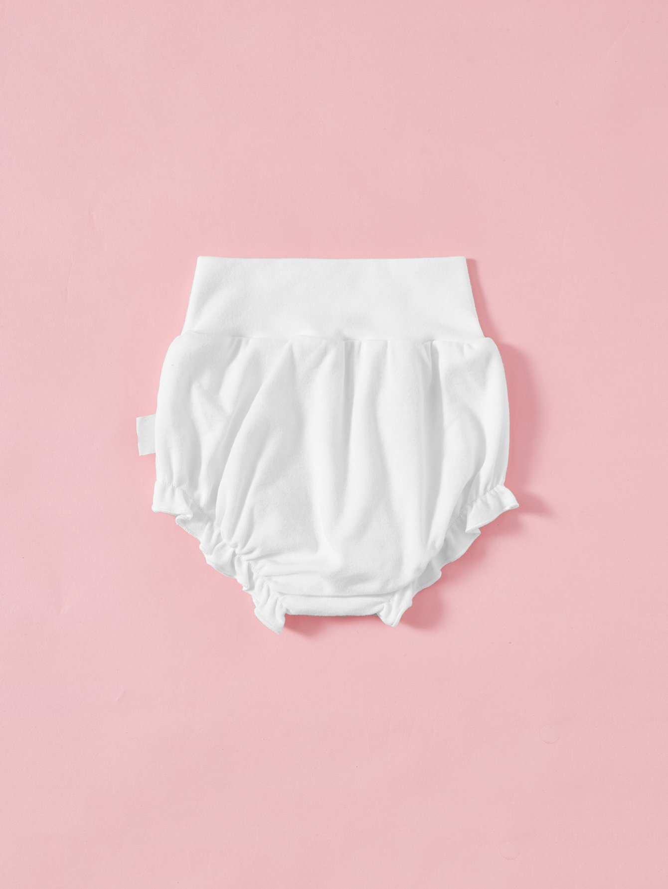 Girls Frill Hem High Waist Shorts black high waist shorts