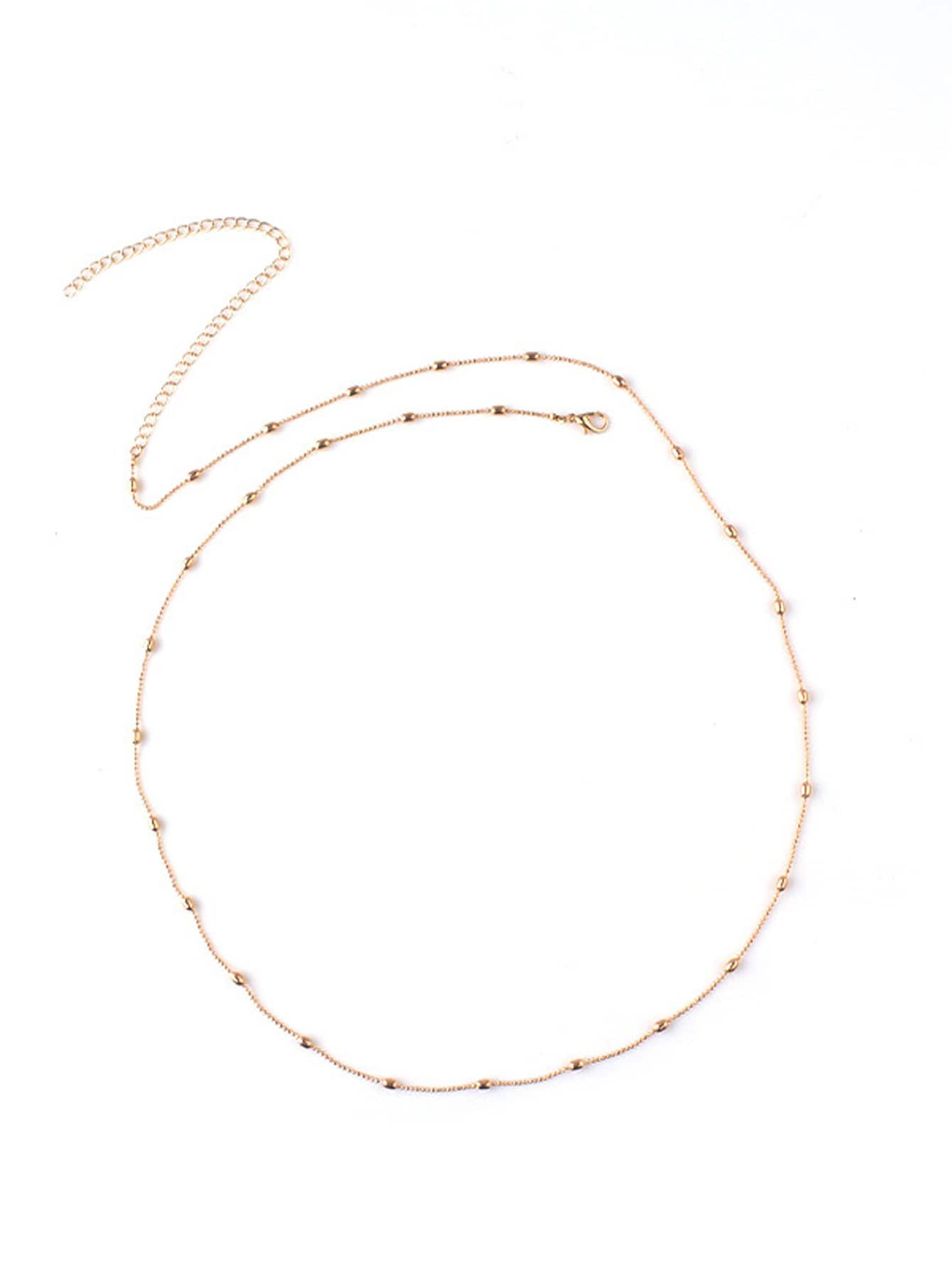 Beaded Detail Waist Chain