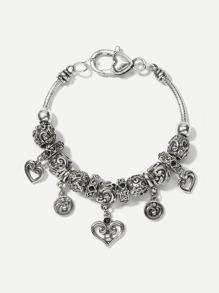 Heart Detail Vintage Bracelet