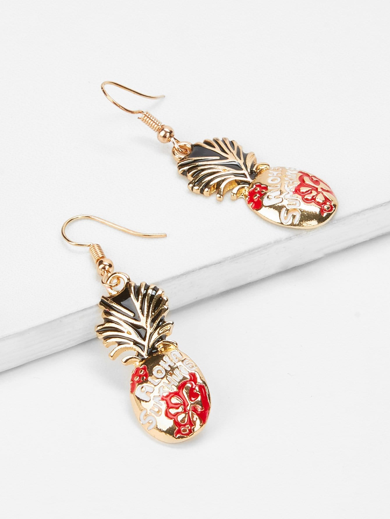 Pineapple Shaped Drop Earrings