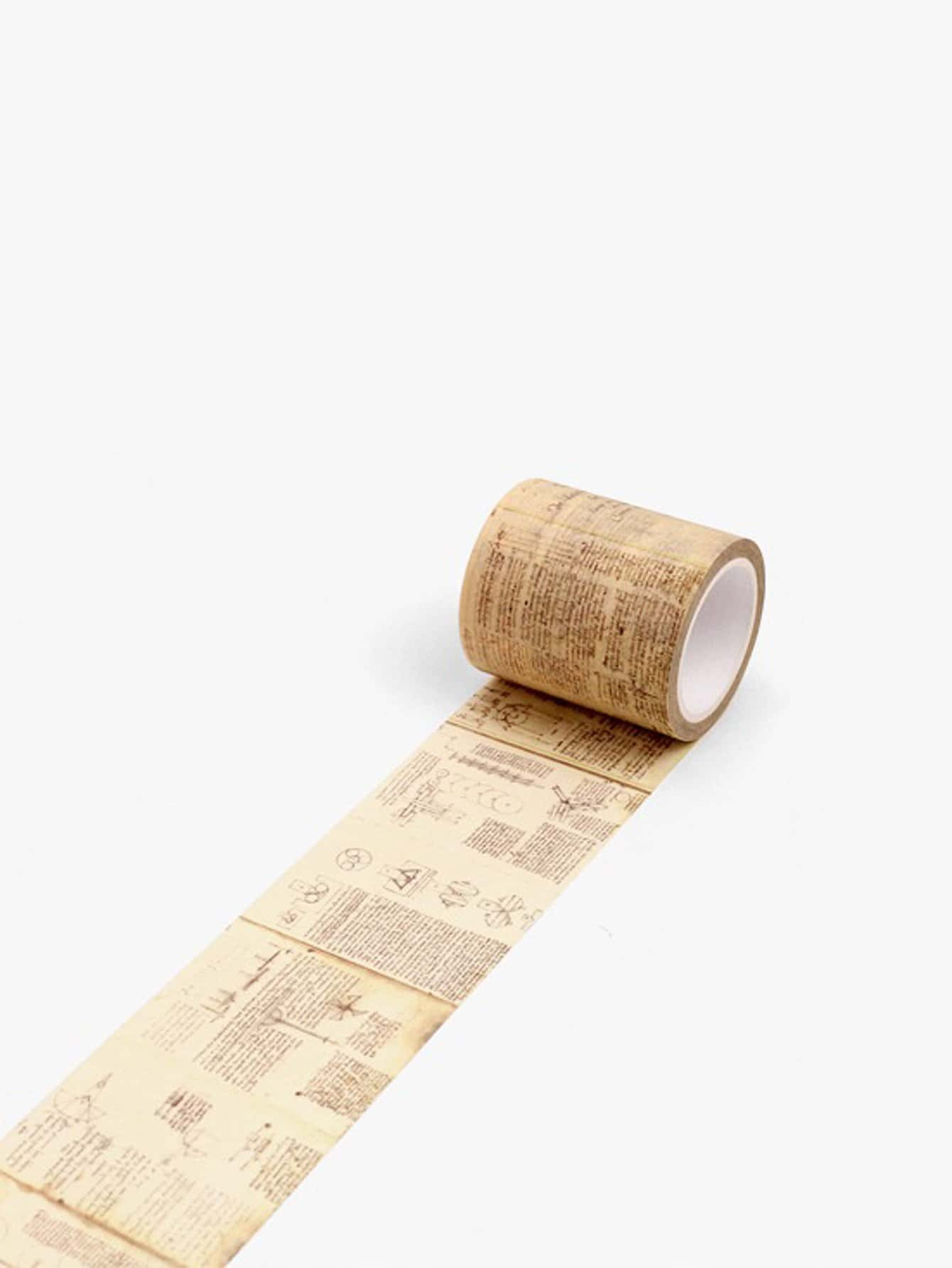 Manuscript Print Wide Decorative Tape manuscript found in accra