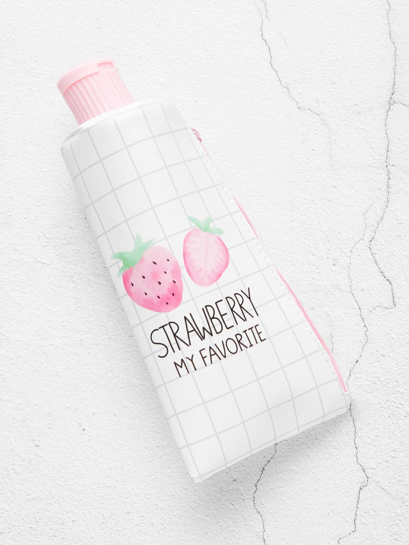 Strawberry Print Pencil Case With Sharpener usb pencil sharpener