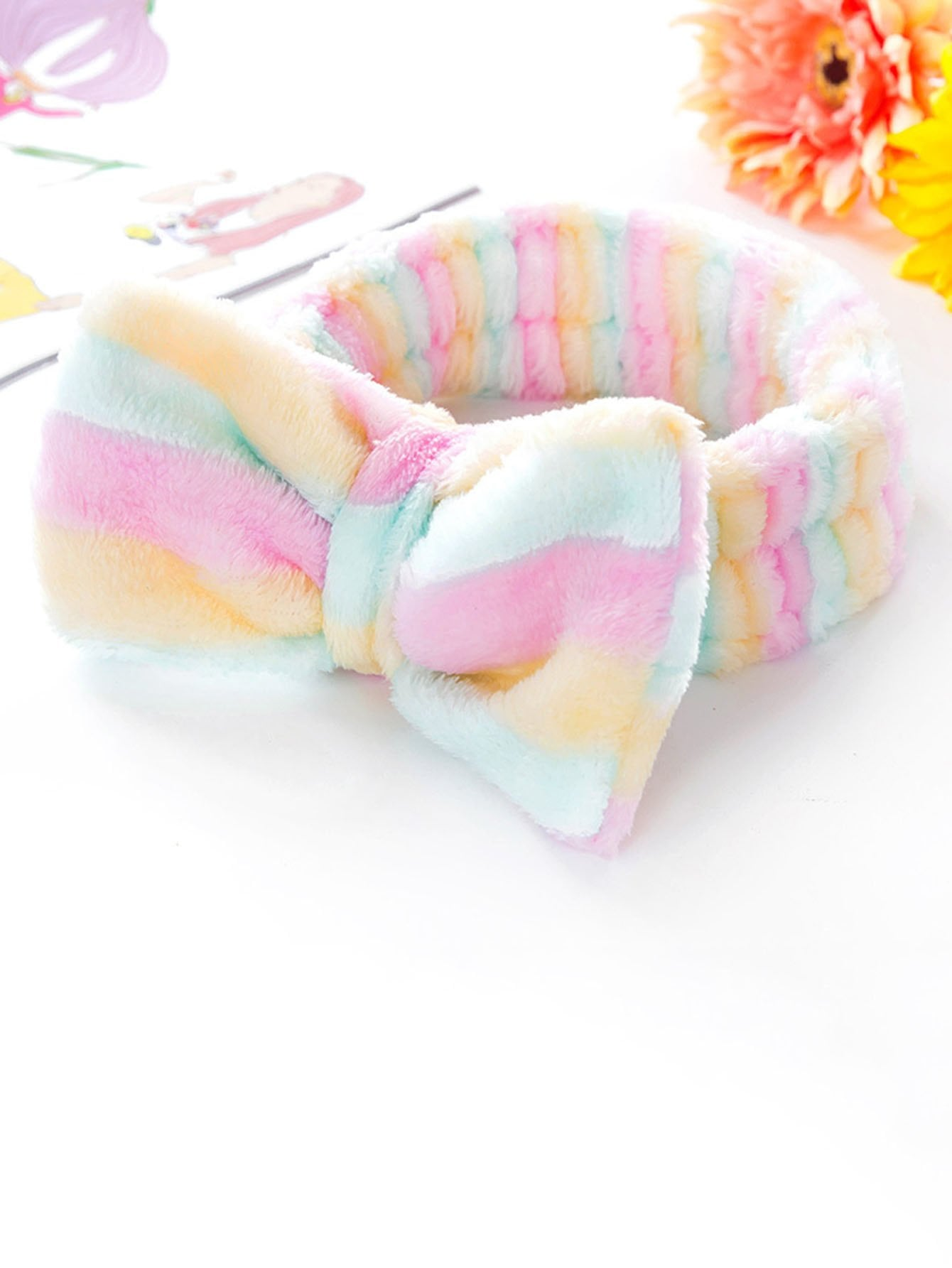 Striped Bow Tie Headband